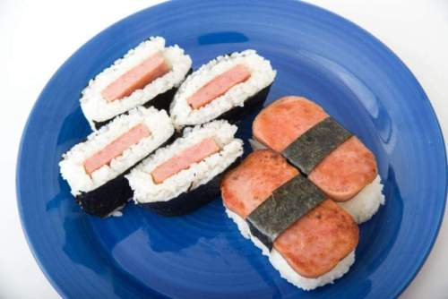 Kiddie Lunch Idea: Spam Musubi with Coke
