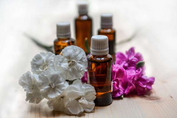 A few bottles of aromatherapy oil