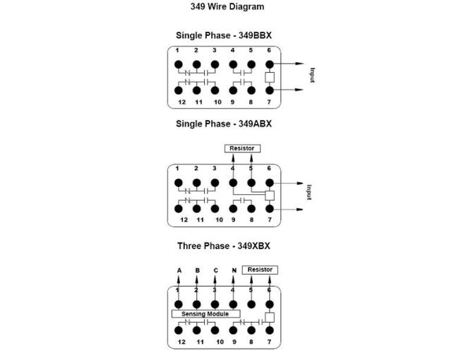 349 series  over/under voltage sensor relays on struthersdunn