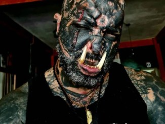 Real Monster with Tattoo,Tattoo Allover, Man Turning Himself to Real Monster with Tattoo Allover Lands Himself Into First Hollywood Deal, Relay Vibes