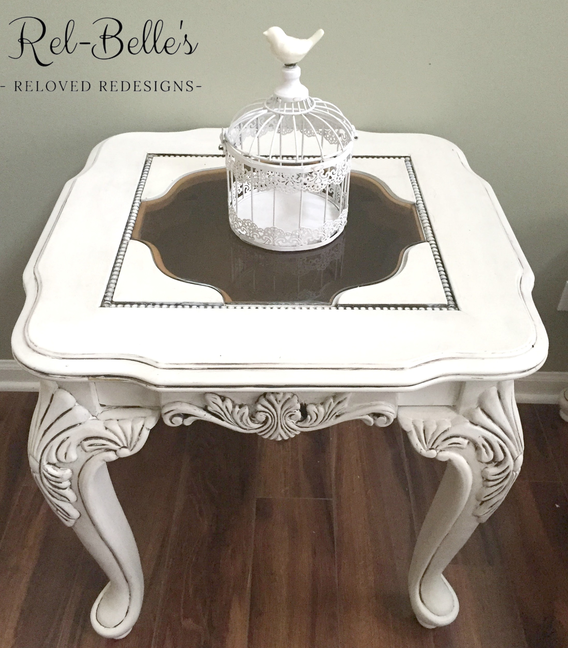 Ornate carved coffee table and end table rel belles reloved top view of end table geotapseo Gallery