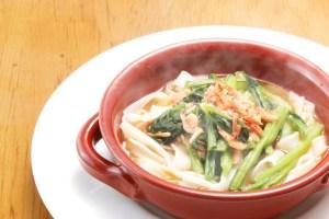 ●小松菜と桜海老のフォー