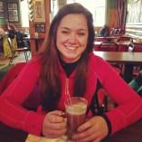 Little sis @elomobono enjoying some après-ski beverage time.