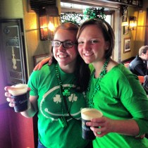 Ladyfriend and her bestie throwing down on some Guiness on St. Paddy's in Philly!