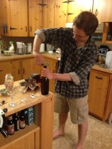 Popping bottles of Battlecat Mead