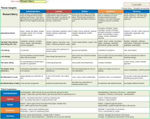Personal theme Insights strengths cascade strengthsfinder clifton strengths