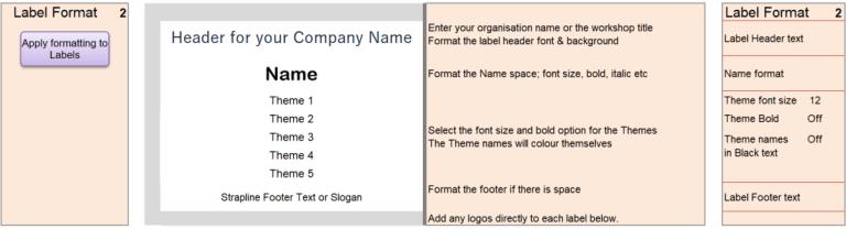 print badge label settings strengthsfinder themes name badge lanyard cascade spreadsheet