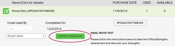 Gallup export strengths themes excel spreadsheet cascade
