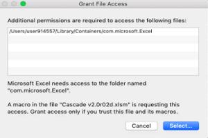 Mojave grant file access cascade