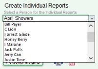 Guide to Cascade's select name for individual reports
