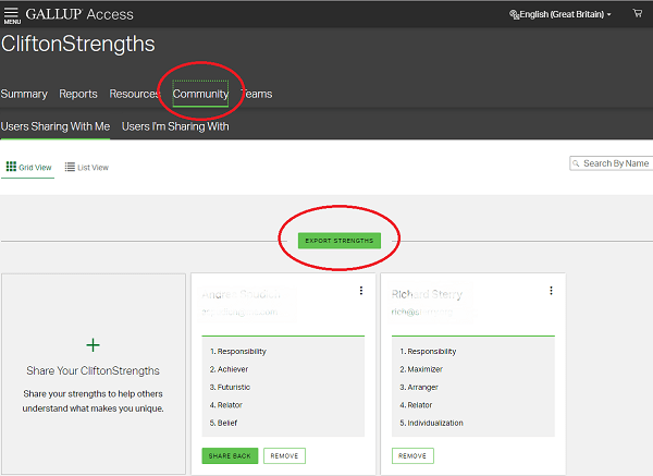 Gallup Access Export to Cascade Strengths