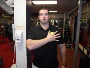 soft tissue release of pec with lacrosse ball