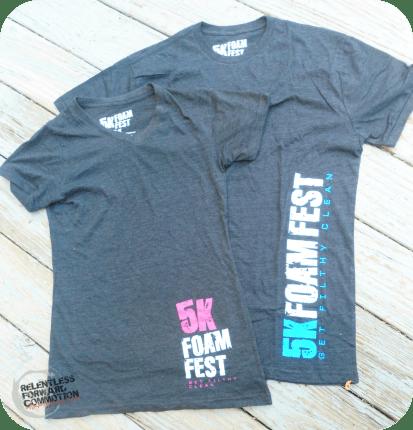 5K Foam Fest Shirts