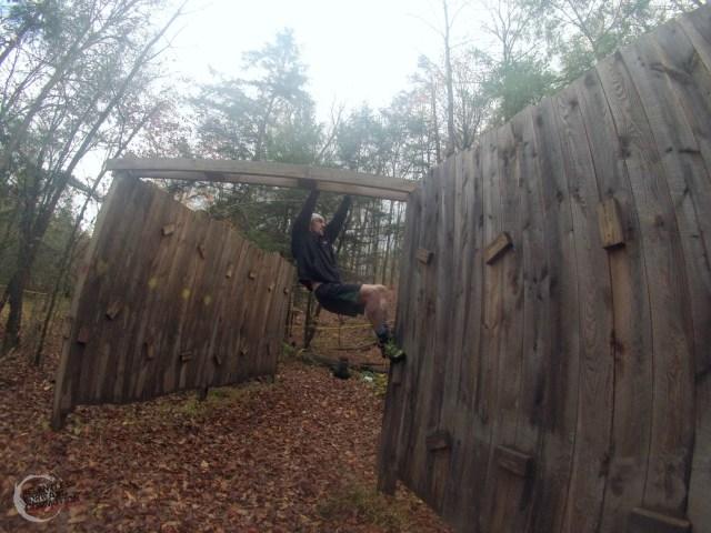 Shale Hill traverse wall