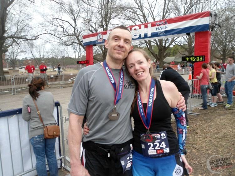 All American Marathon Finish