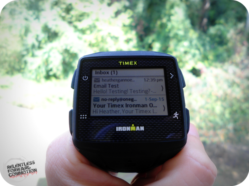Timex Ironman GPS One email