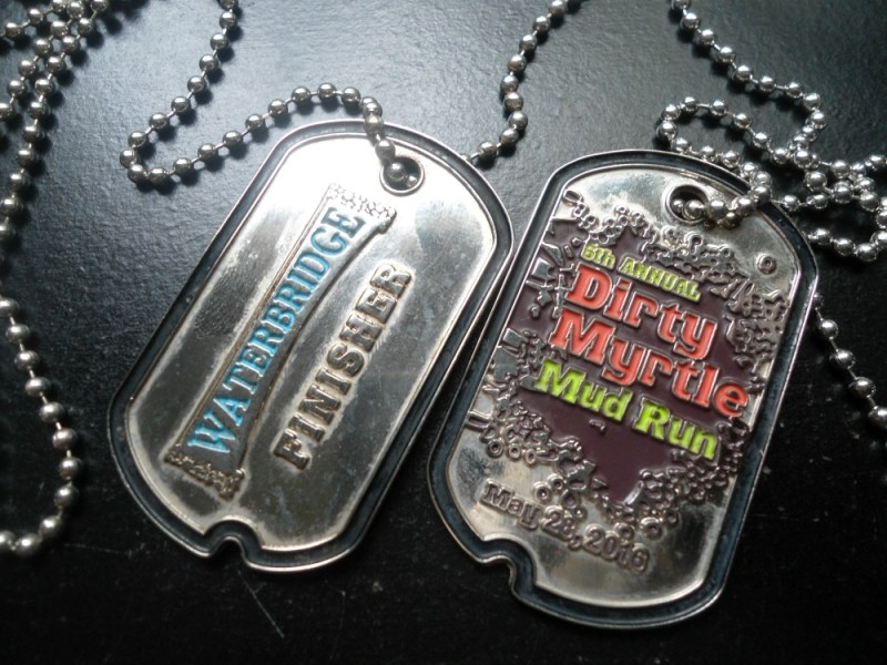 Dirty Myrtle Mud Run Medals