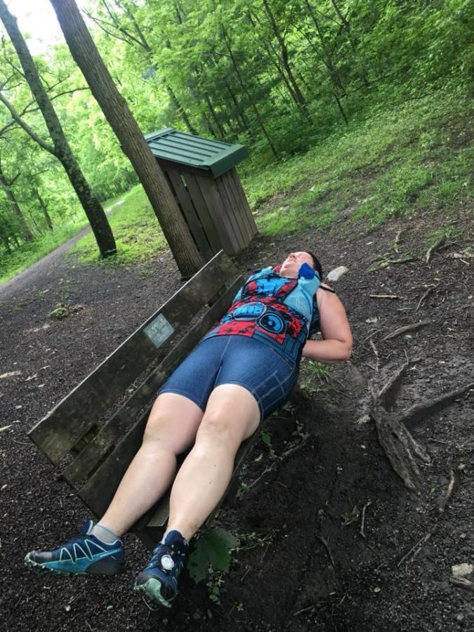 Ultra Runner Sleeping