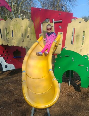 my sunday photo - sliding at the park