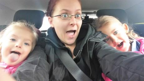 Backseat selfie