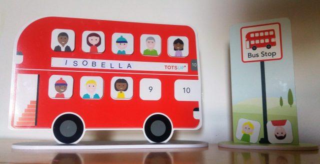 Red Bus Reward Chart & Bus stop