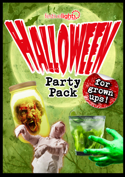 festive lights halloween party pack