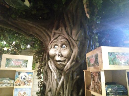 Talking tree at rainforest cafe