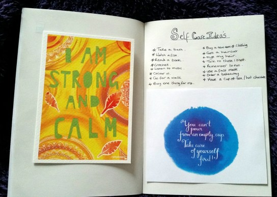 Self Care Notebook & Mantra's