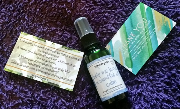 Help me have a mindful of calm spray from Help Me Organics