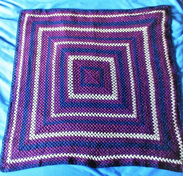 Purple Granny Square Blanket