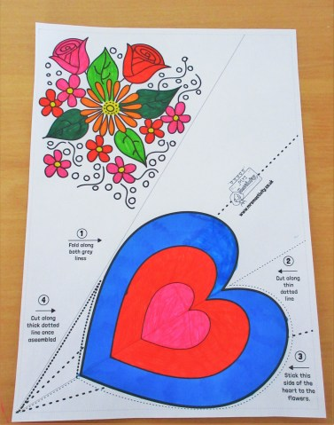 Mother's Day Flower Colouring Craft Printable