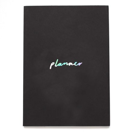 Black & pearlescent planner - Old English Co