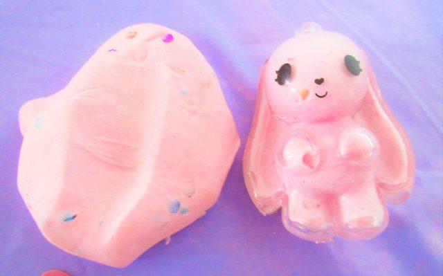 Glam Goo Pink Confetti Keychain