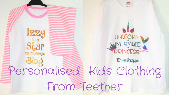 Personalised Kids Clothing From Teether