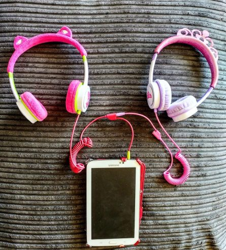 ZAGG ifrogz Little Rockerz Children's Volume Limiting On-Ear Headphones, Kitten & Princess
