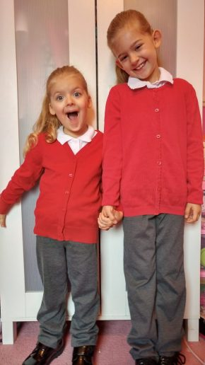 Big girls off to school!