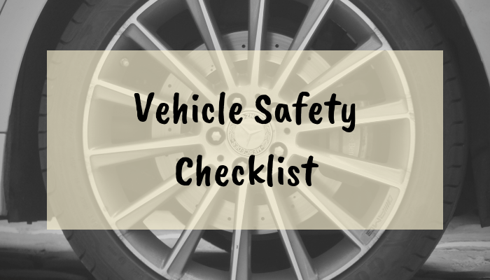 Vehicle Safety Checklist