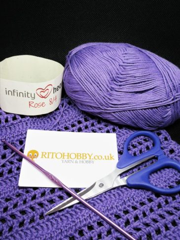 Purple Crocheted Summer Caridgan Using Ritohobby Yarn
