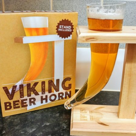 Viking Beer Horn and Stand - Personalised