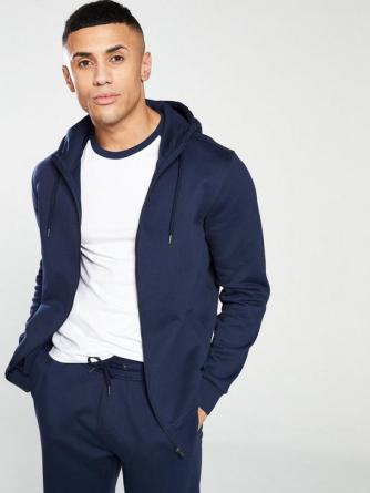 Navy Zip-up Hoody From Very