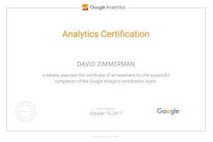 Google Analytics IQ Certificate