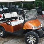 custom ez-go cart orange