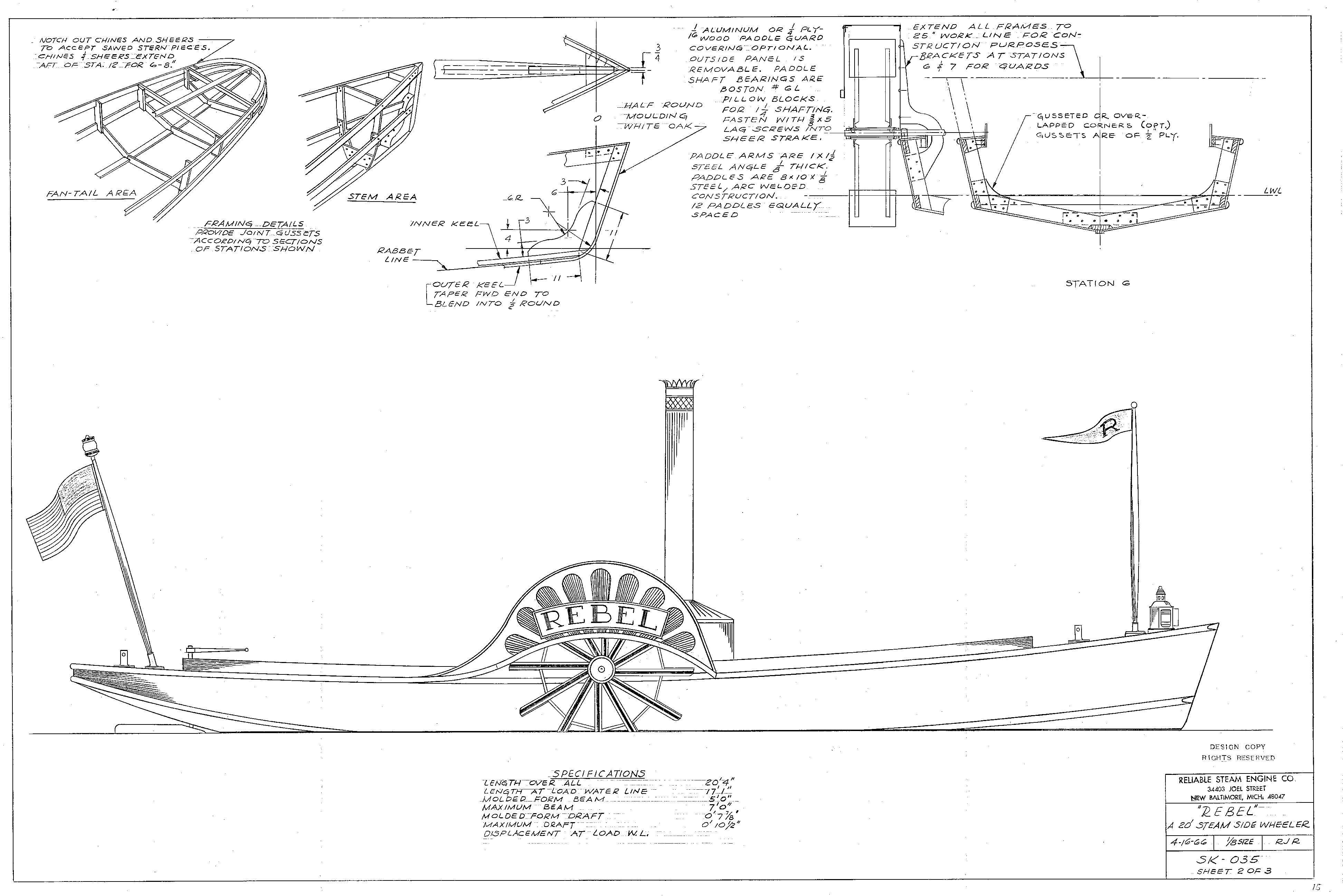 Boats Page Of Reliable Steam Engine Co Maker Of Steam