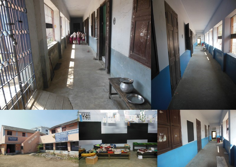 The school before and after being painted by Bhumi