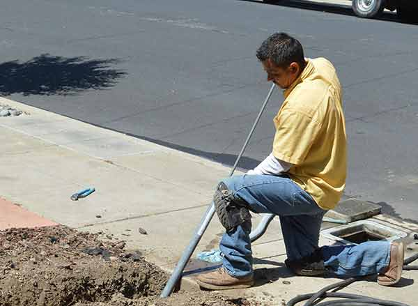 Relief Home Plumbing trenchless sewer repair at Denver residence.