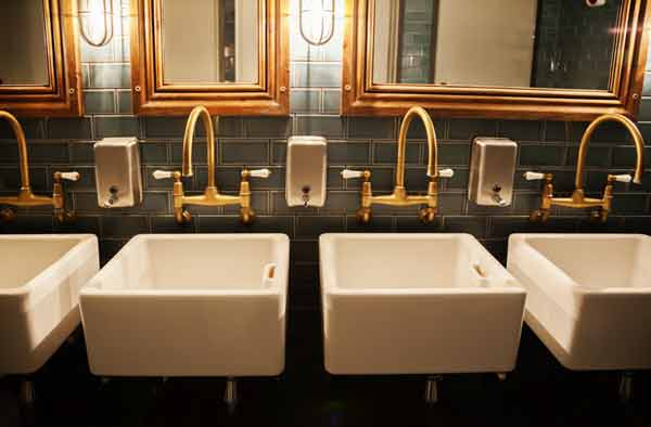 Denver bathroom needing plumbing service by Relief Home Services