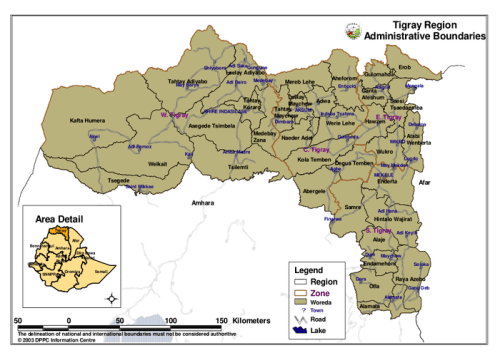 Image result for Tigray detail Map in Ethiopia...