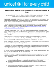 But for almost 800 million people, it's not nearly so simple, and water scarcity is a very real, and very deadly, reality for them. Running Dry Water Scarcity Threatens Lives And Development In Iraq En Ar Iraq Reliefweb