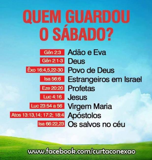 QUEM GUARDOU SABADO