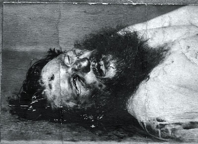 Rasputin etter det vellykkede attentatet mot ham den 30. desember 1916. Foto: Wikimedia Commons.